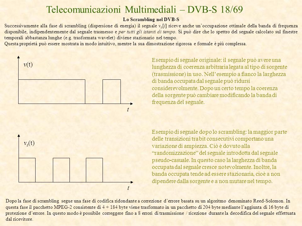 Lo Scrambling nel DVB-S
