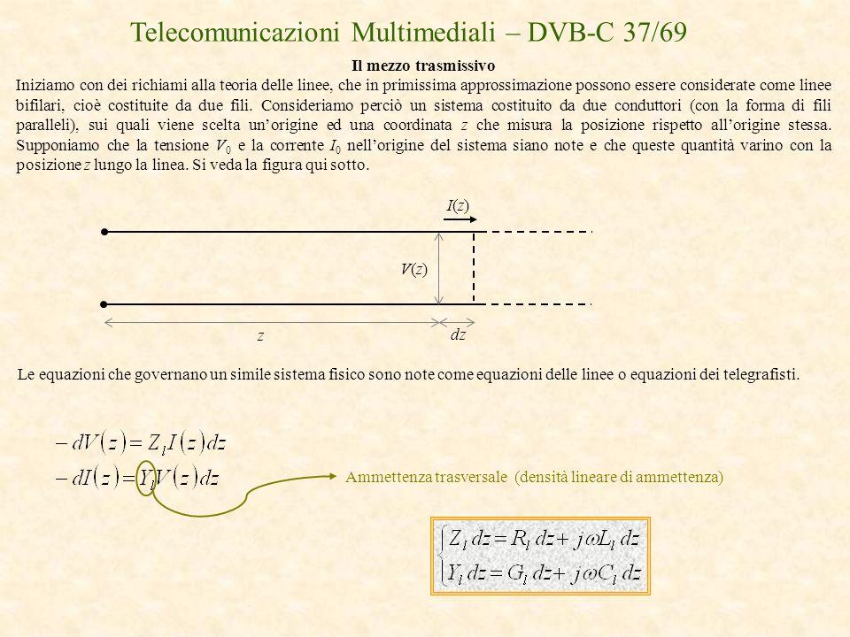 Telecomunicazioni Multimediali – DVB-C 37/69