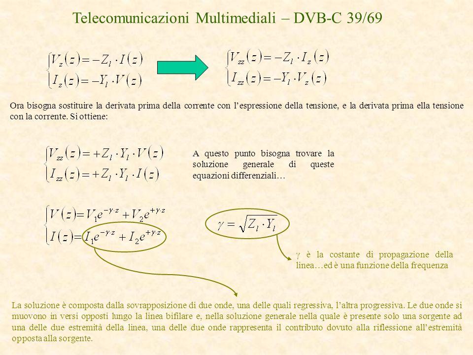 Telecomunicazioni Multimediali – DVB-C 39/69