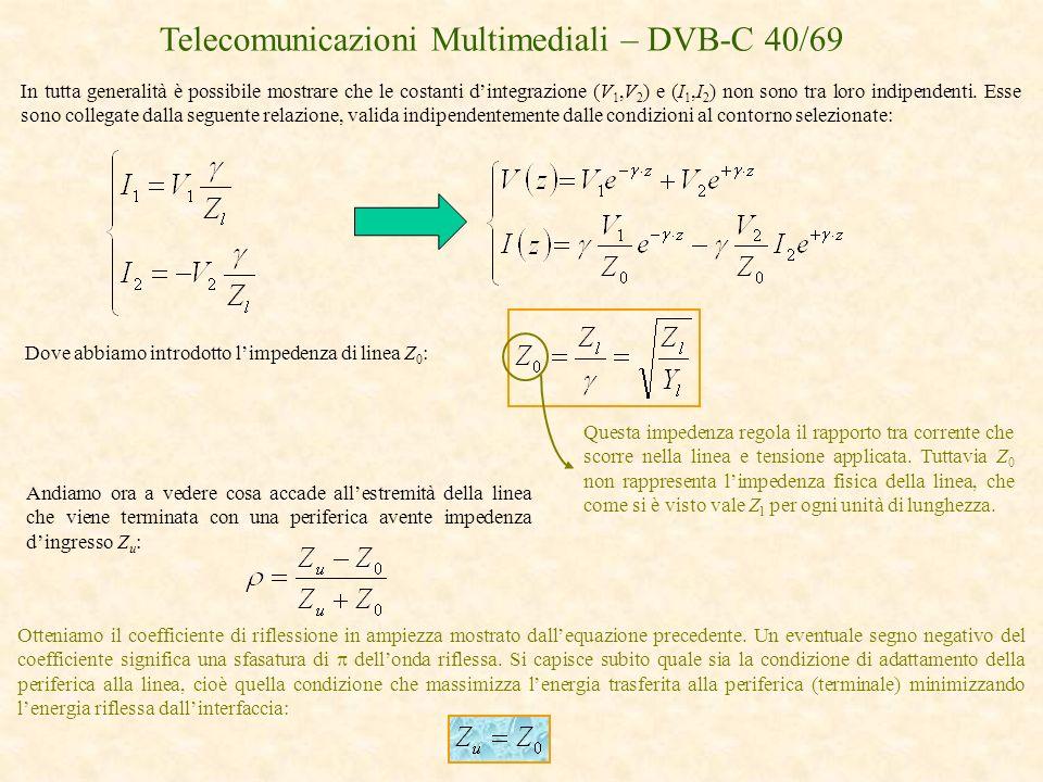 Telecomunicazioni Multimediali – DVB-C 40/69