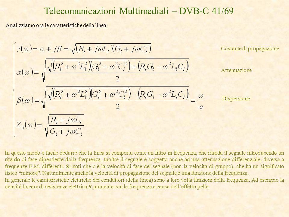Telecomunicazioni Multimediali – DVB-C 41/69