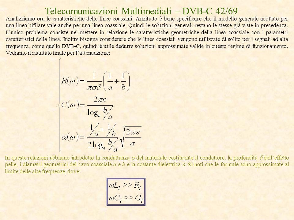 Telecomunicazioni Multimediali – DVB-C 42/69