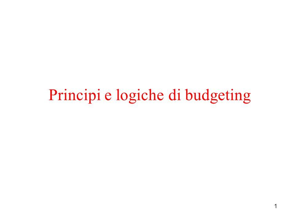 Principi e logiche di budgeting