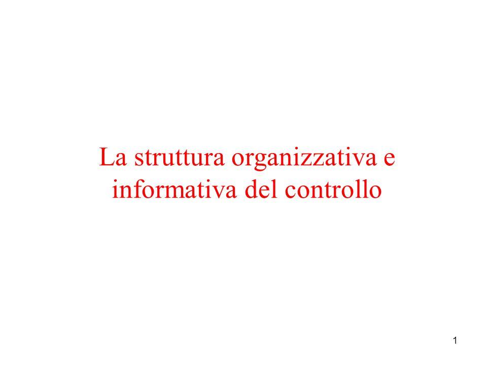 La struttura organizzativa e informativa del controllo