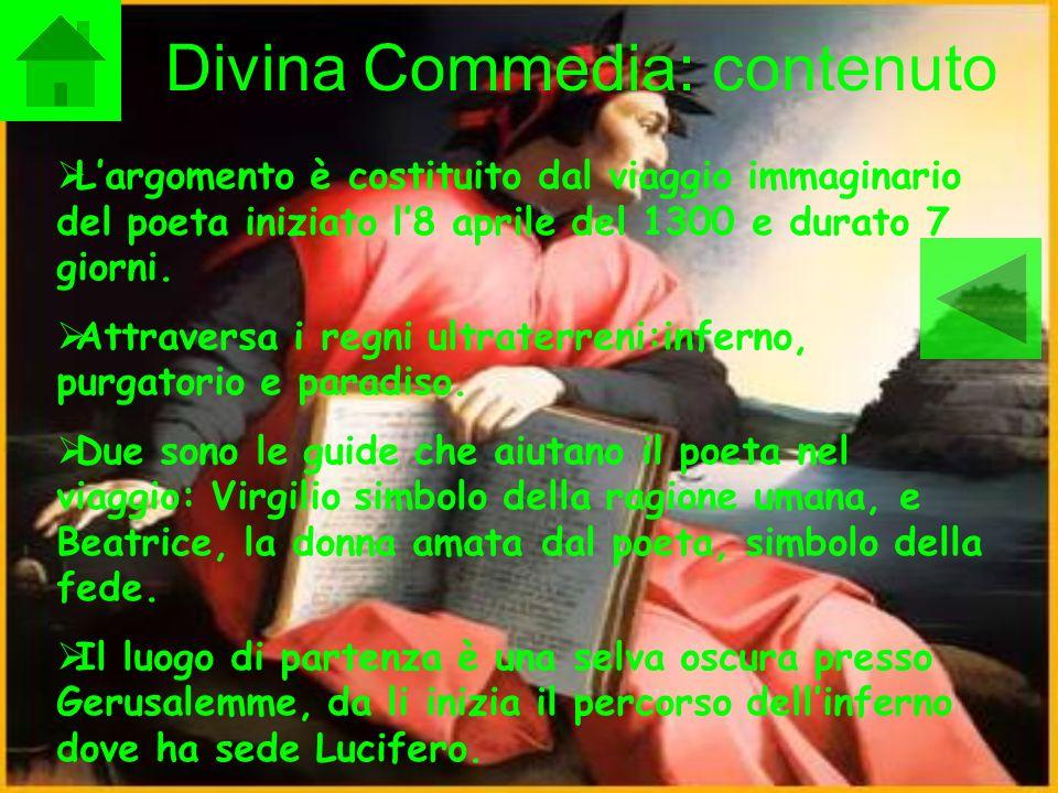 Divina Commedia: contenuto