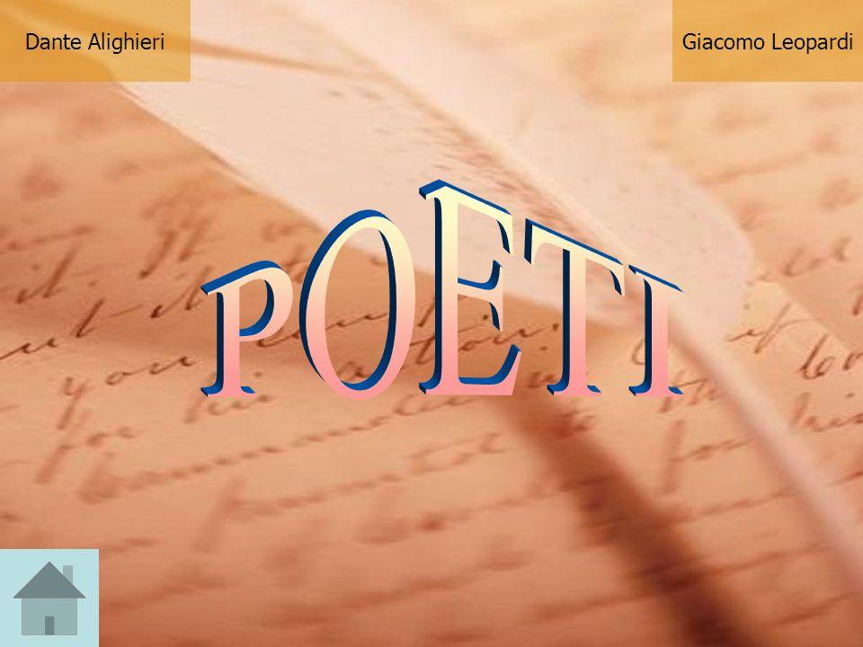 Dante Alighieri Giacomo Leopardi POETI