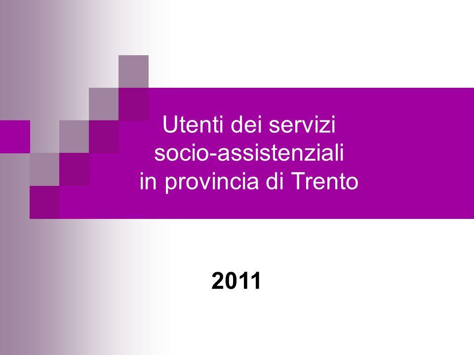 Utenti dei servizi socio-assistenziali in provincia di Trento
