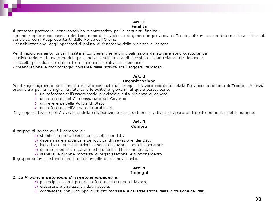 Art. 1 Finalità. Il presente protocollo viene condiviso e sottoscritto per le seguenti finalità:
