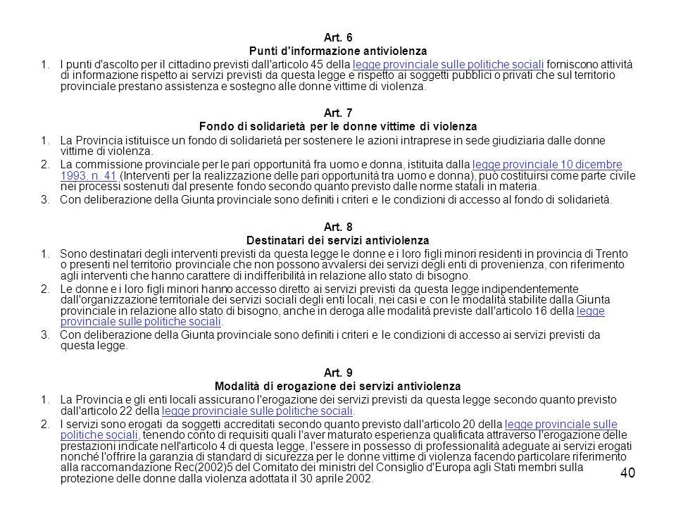 Punti d informazione antiviolenza