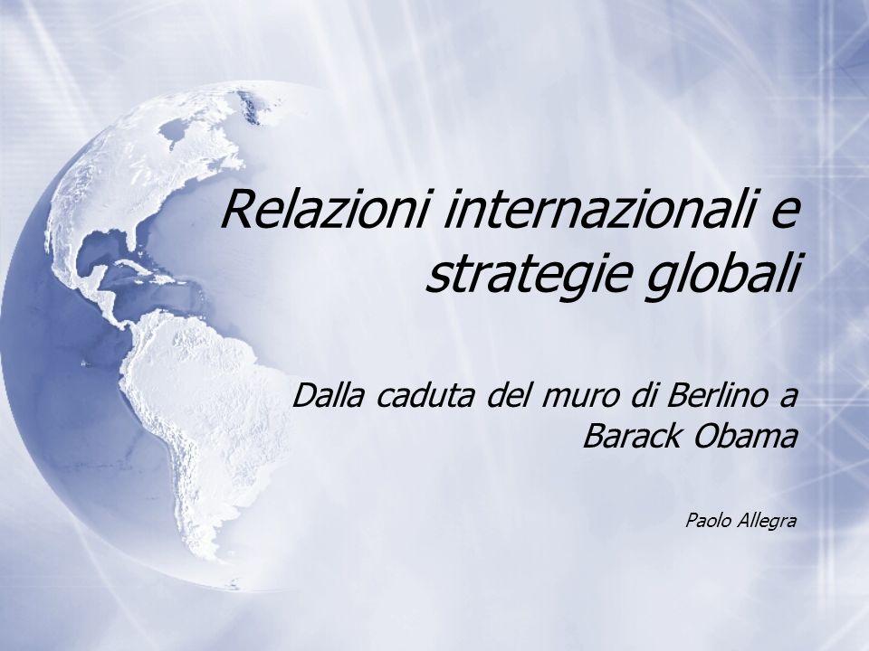 Relazioni internazionali e strategie globali