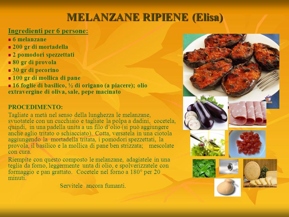 MELANZANE RIPIENE (Elisa)
