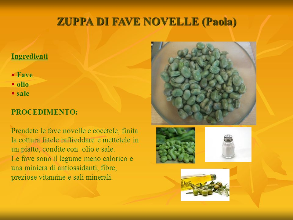 ZUPPA DI FAVE NOVELLE (Paola)