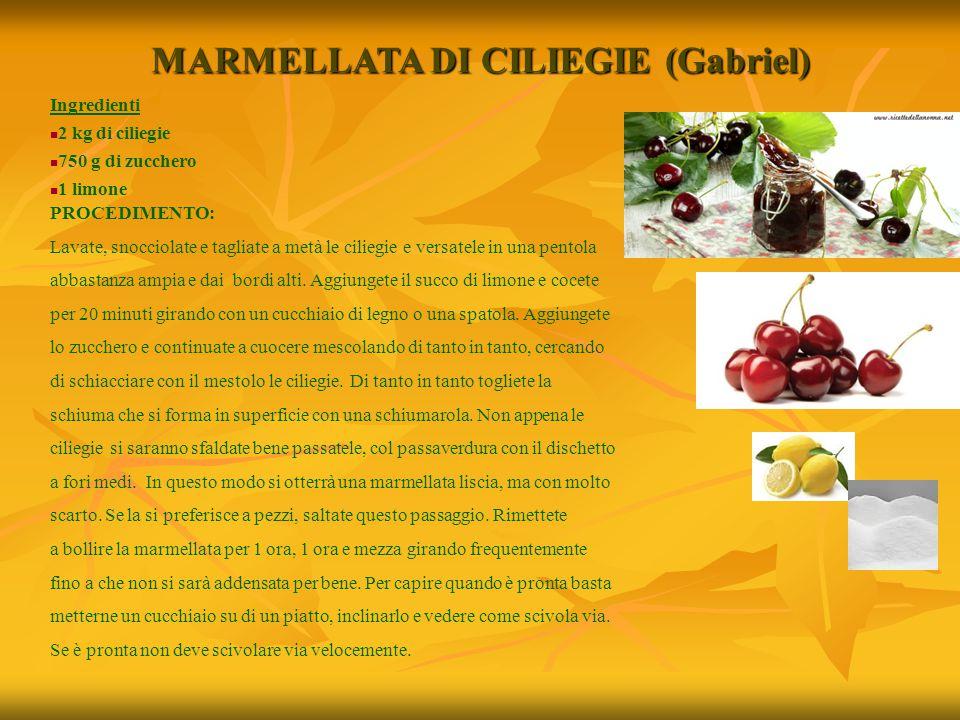 MARMELLATA DI CILIEGIE (Gabriel)