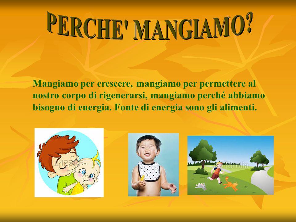 PERCHE MANGIAMO