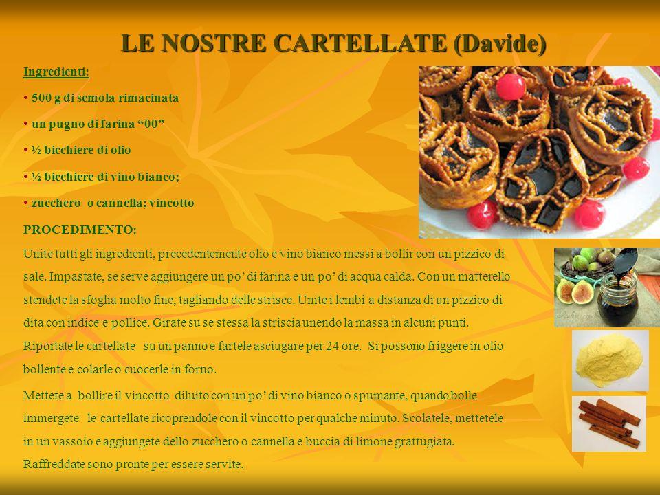 LE NOSTRE CARTELLATE (Davide)