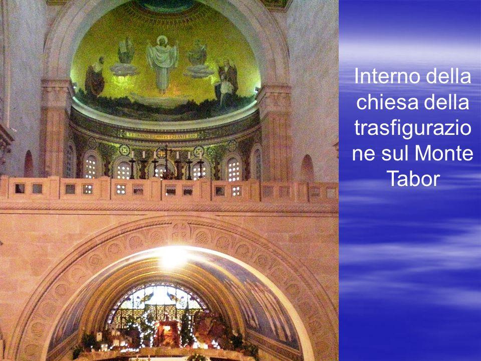 Interno della chiesa della trasfigurazione sul Monte Tabor