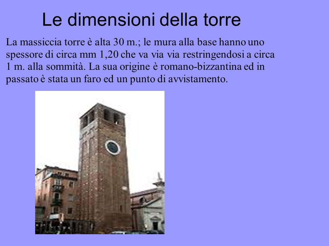 Le dimensioni della torre