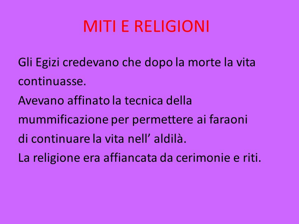 MITI E RELIGIONI