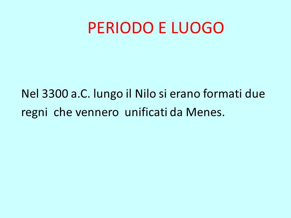 PERIODO E LUOGO Nel 3300 a.C.