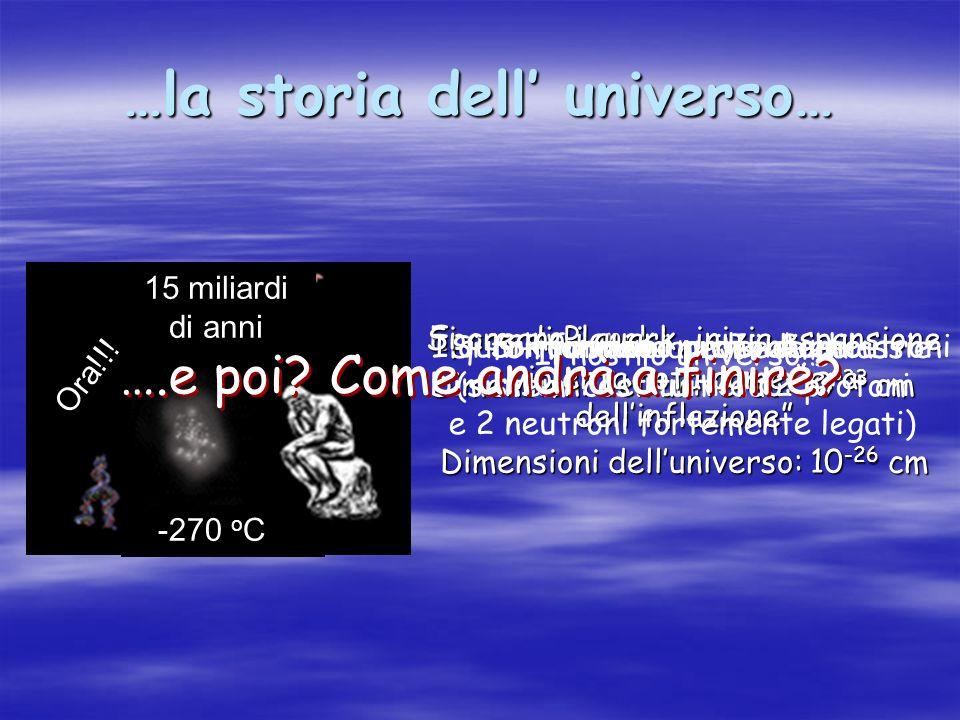 …la storia dell' universo…