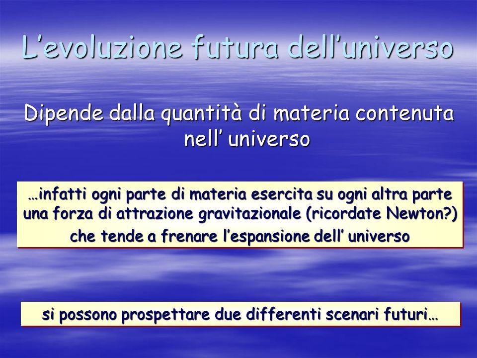 L'evoluzione futura dell'universo