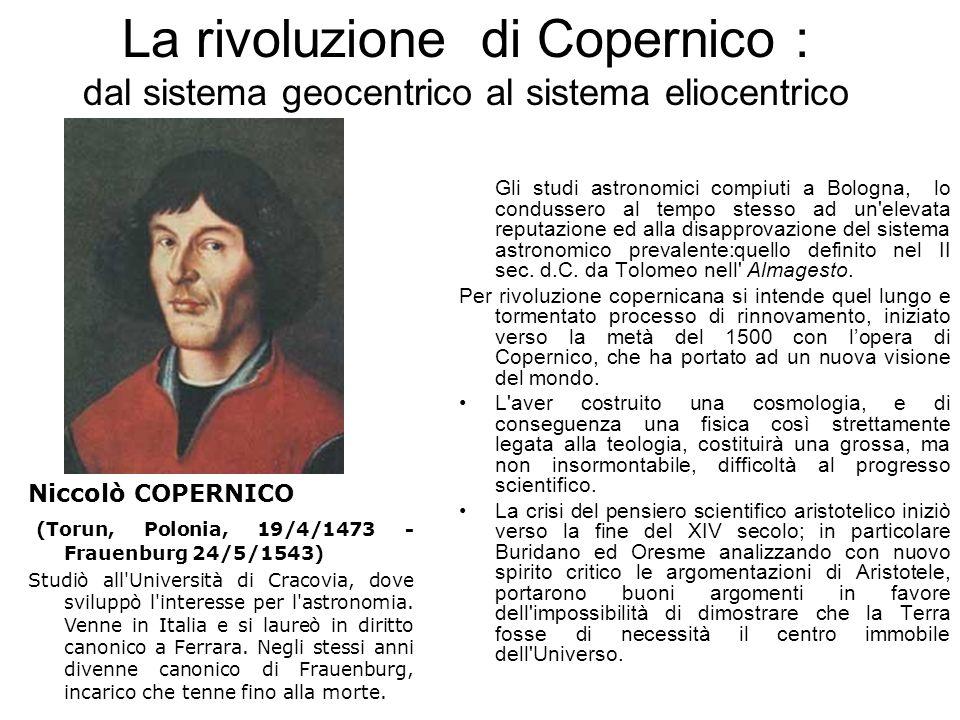 La rivoluzione di Copernico : dal sistema geocentrico al sistema eliocentrico