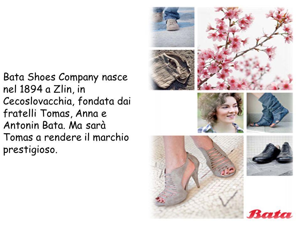 Bata Shoes Company nasce nel 1894 a Zlin, in Cecoslovacchia, fondata dai fratelli Tomas, Anna e Antonin Bata.