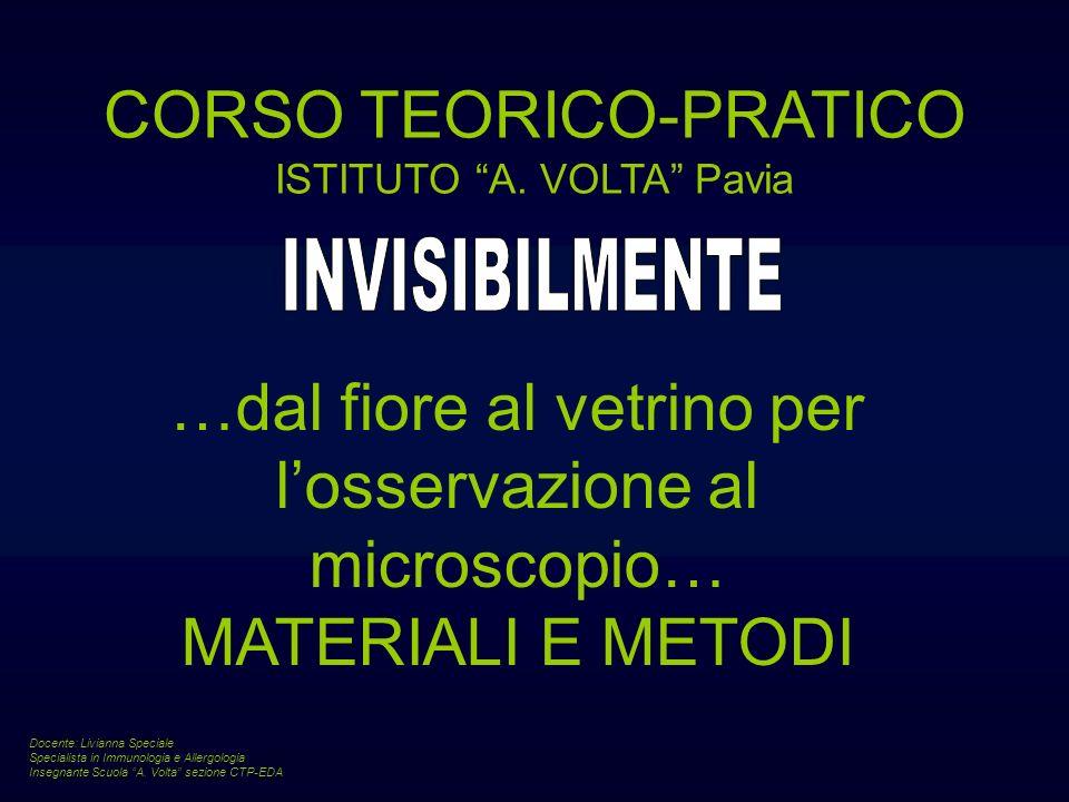 CORSO TEORICO-PRATICO ISTITUTO A. VOLTA Pavia