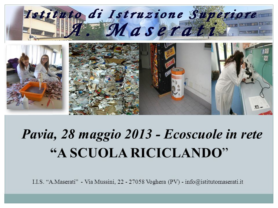 Pavia, 28 maggio 2013 - Ecoscuole in rete