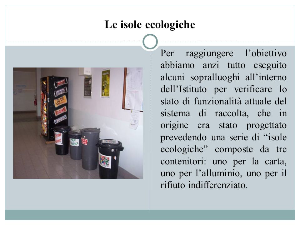 Le isole ecologiche