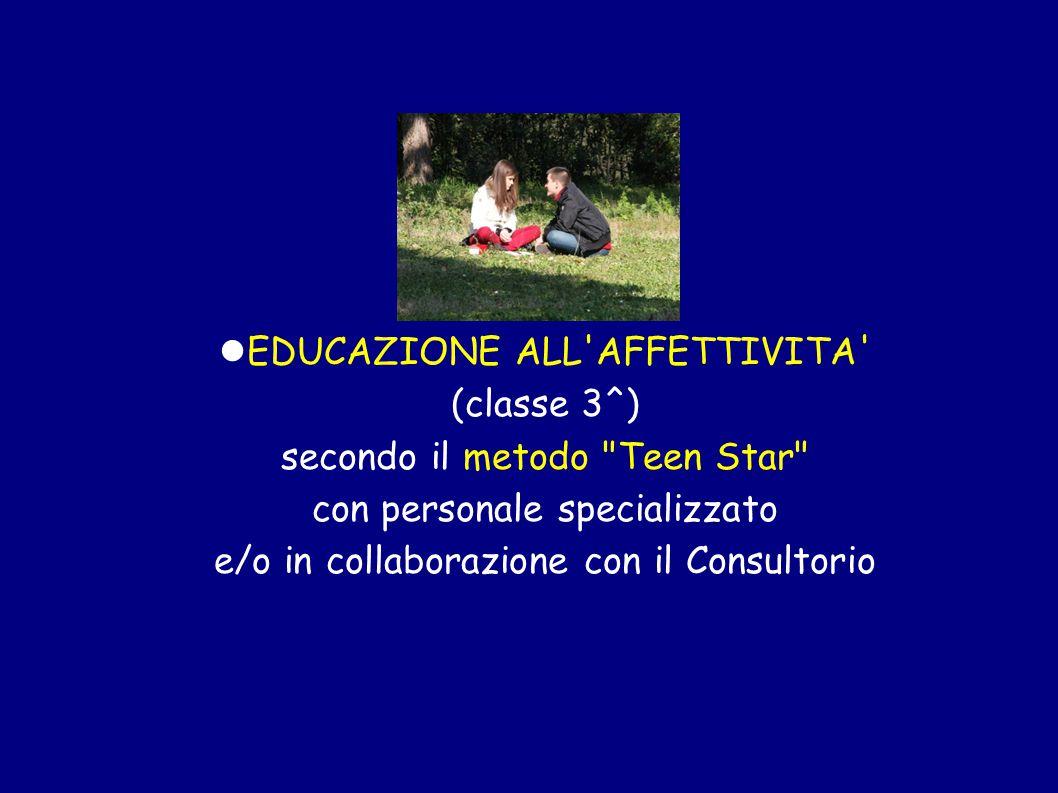 EDUCAZIONE ALL AFFETTIVITA (classe 3^) secondo il metodo Teen Star