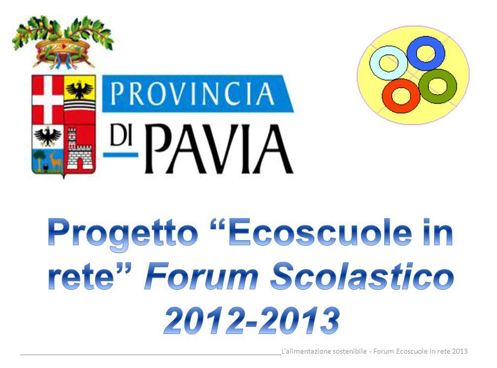 Progetto Ecoscuole in rete Forum Scolastico 2012-2013