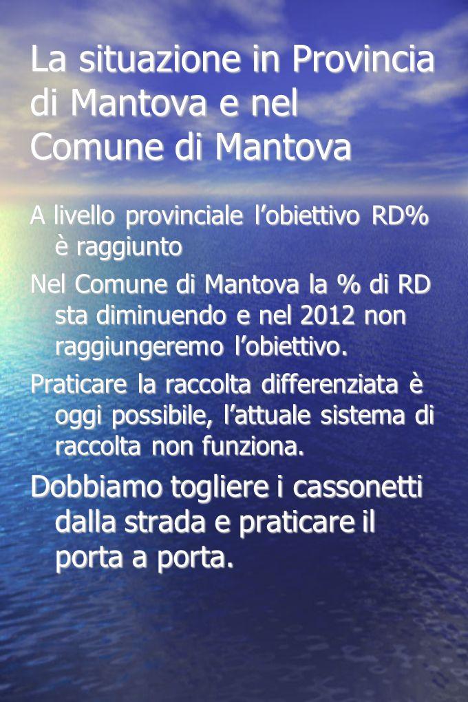 La situazione in Provincia di Mantova e nel Comune di Mantova