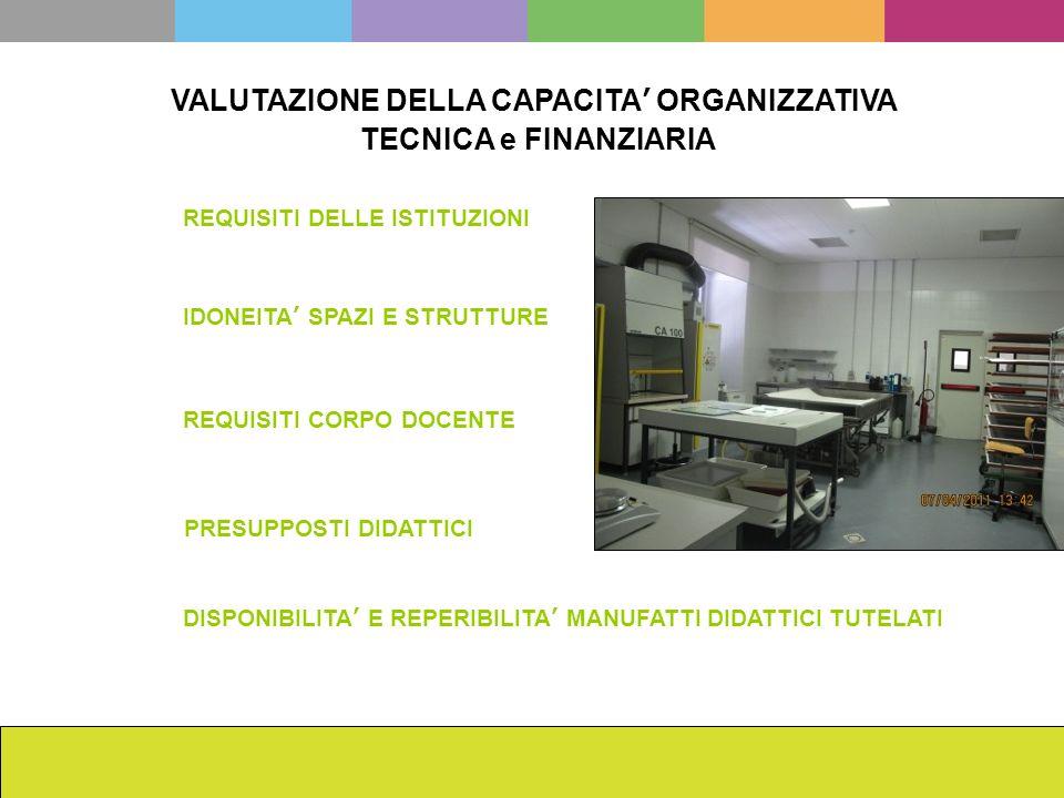 VALUTAZIONE DELLA CAPACITA' ORGANIZZATIVA