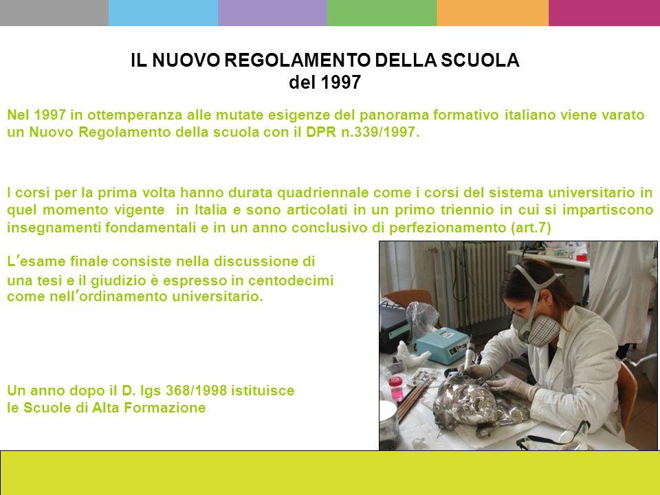 IL NUOVO REGOLAMENTO DELLA SCUOLA del 1997