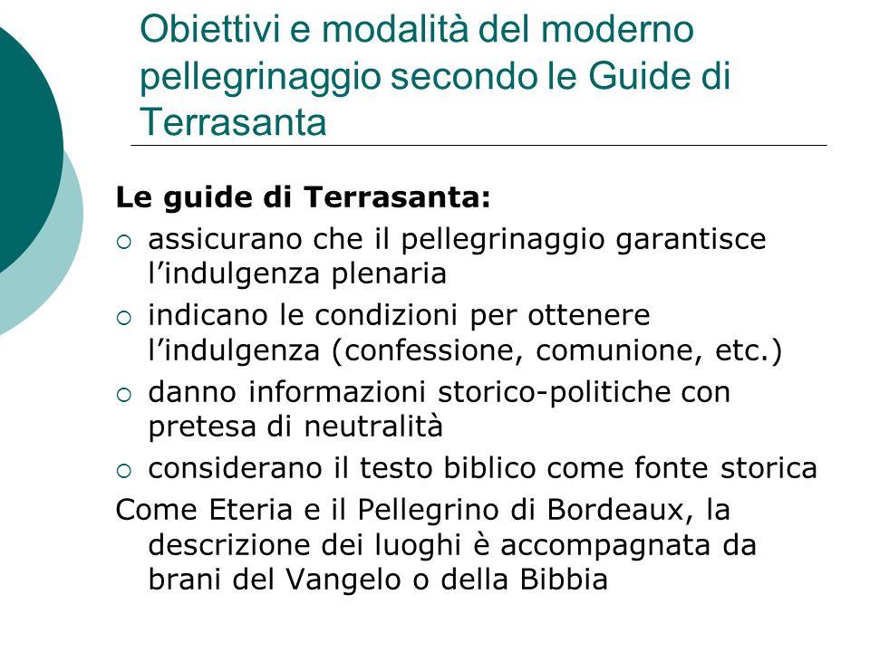 Obiettivi e modalità del moderno pellegrinaggio secondo le Guide di Terrasanta