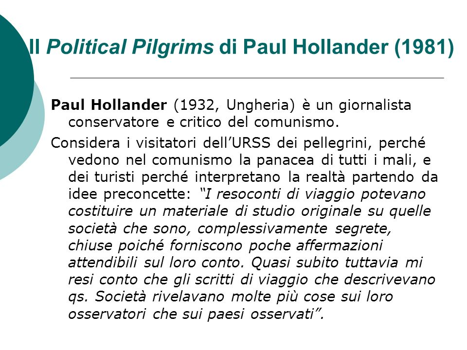 Il Political Pilgrims di Paul Hollander (1981)