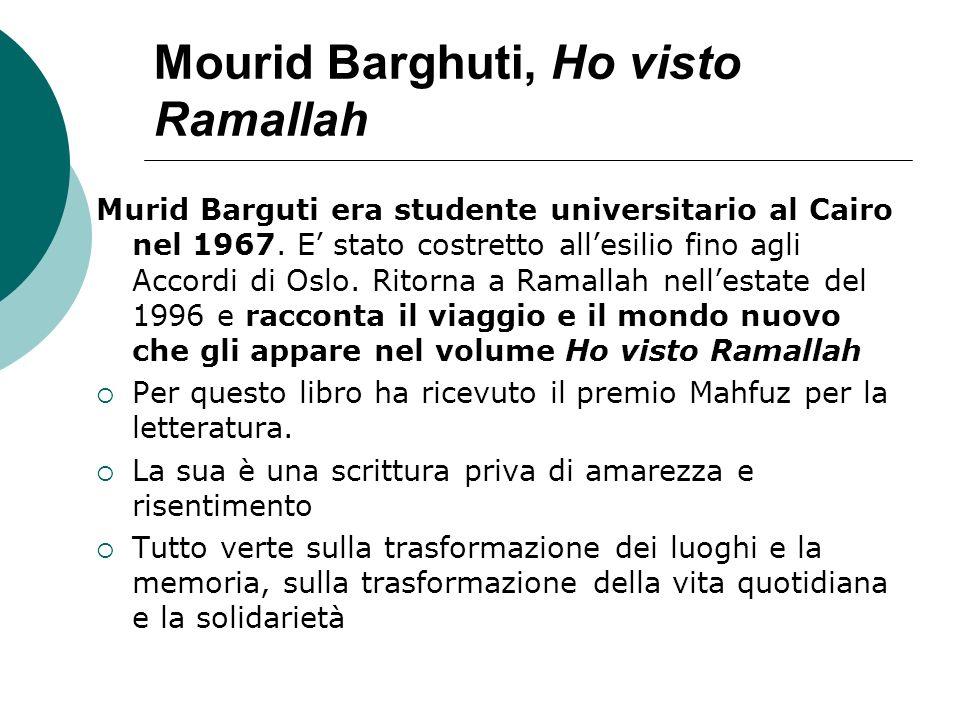 Mourid Barghuti, Ho visto Ramallah