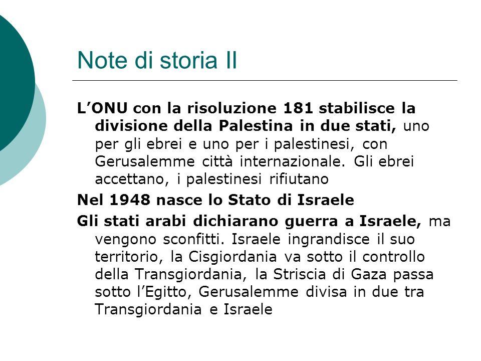 Note di storia II