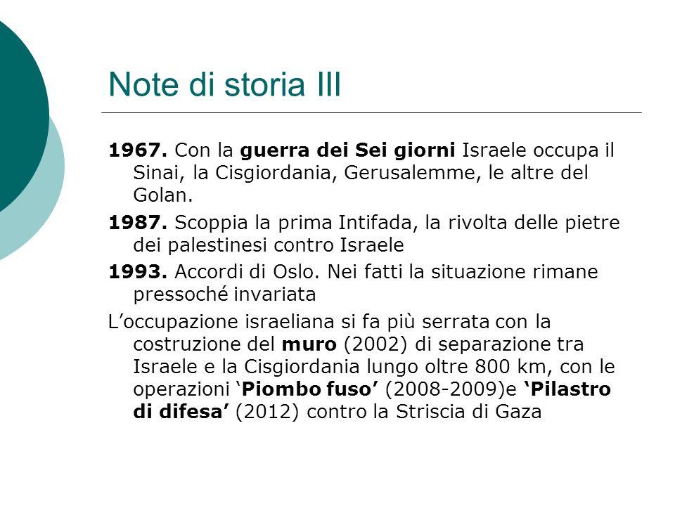 Note di storia III