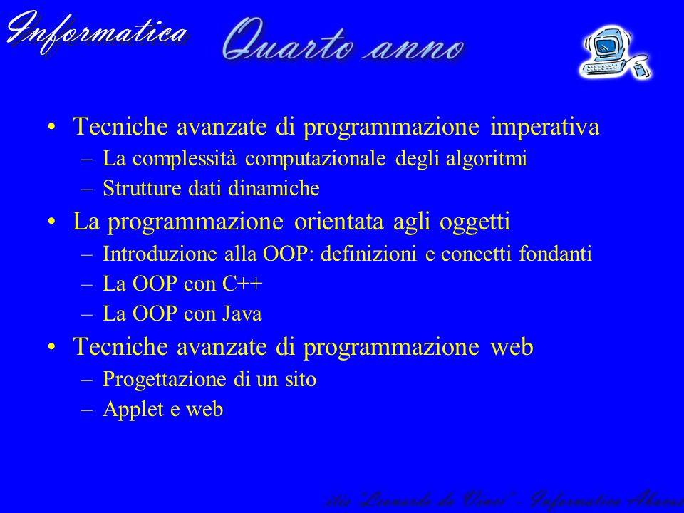 Tecniche avanzate di programmazione imperativa