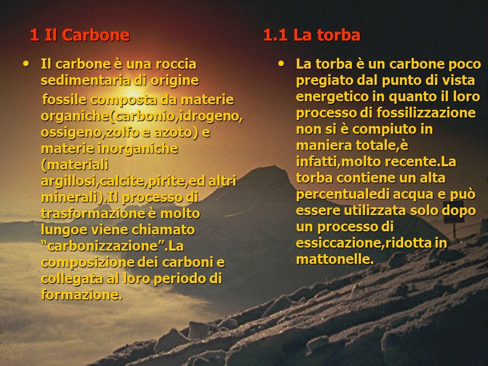 1 Il Carbone 1.1 La torba Il carbone è una roccia sedimentaria di origine.