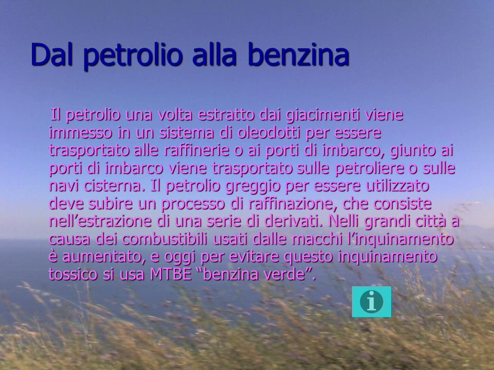 Dal petrolio alla benzina