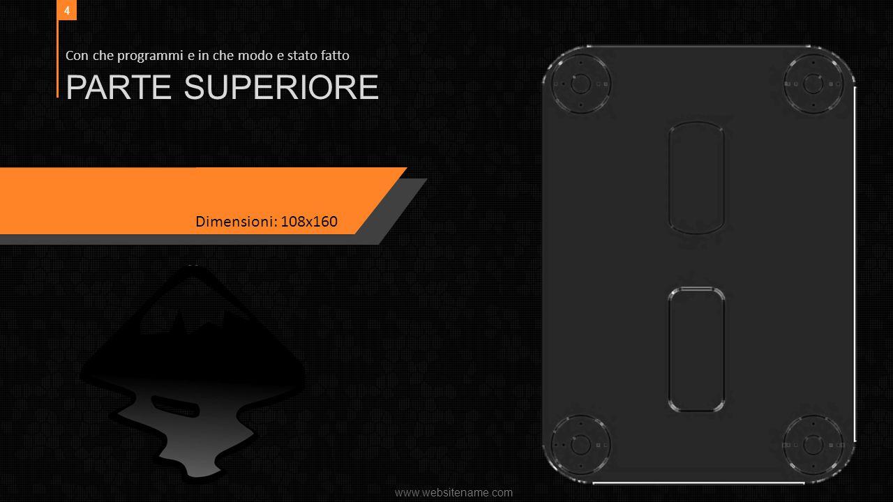 PARTE SUPERIORE Dimensioni: 108x160