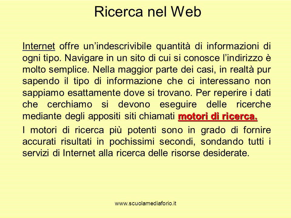 Ricerca nel Web