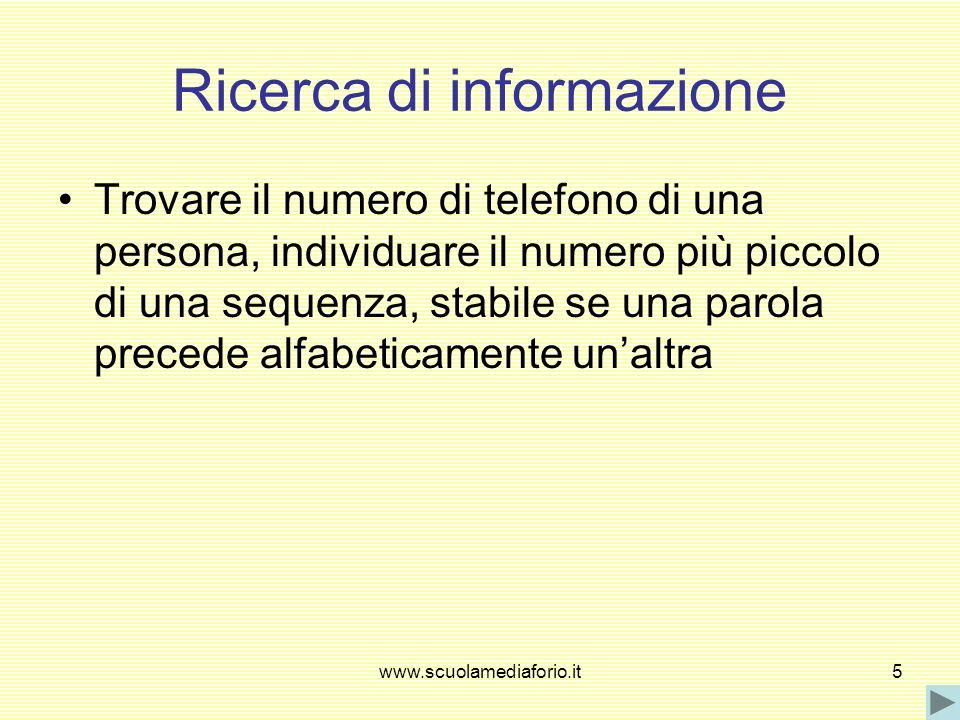 Ricerca di informazione