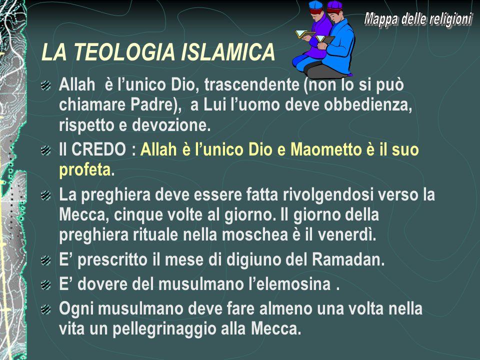 Mappa delle religioni LA TEOLOGIA ISLAMICA