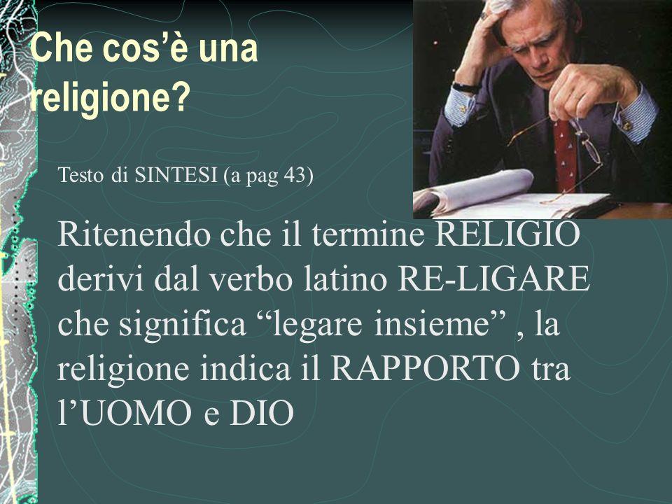 Che cos'è una religione
