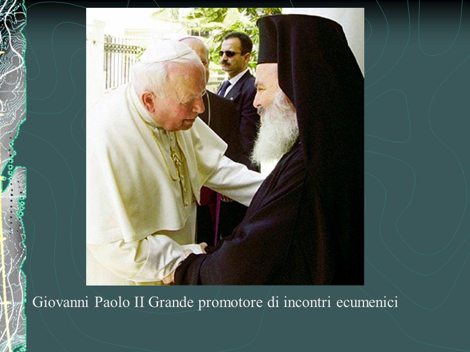 Giovanni Paolo II Grande promotore di incontri ecumenici