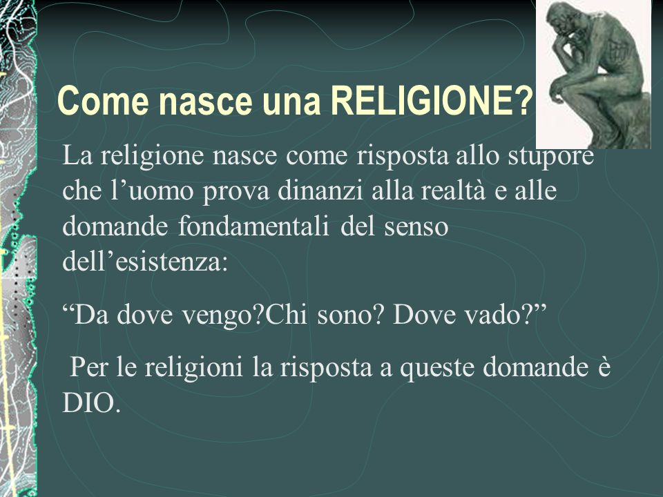 Come nasce una RELIGIONE